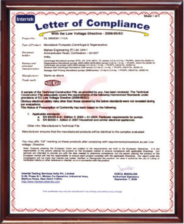 Letter Of Compliance